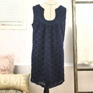 Trina Turk Crochet Navy Dress